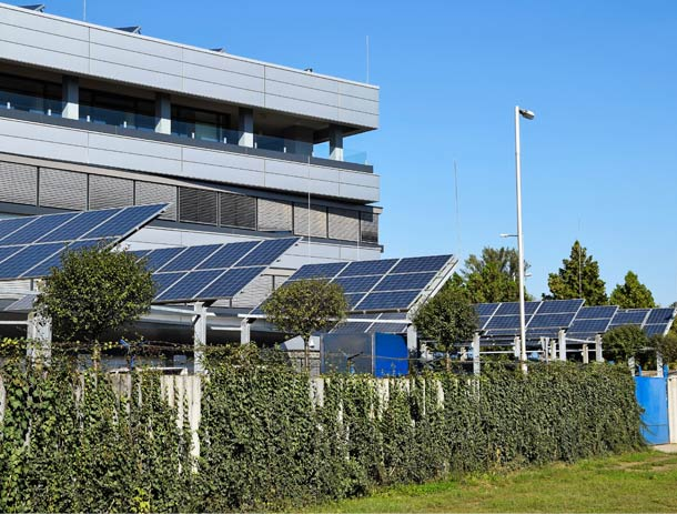 Commercial Office Building using solar panels with LEED Certification